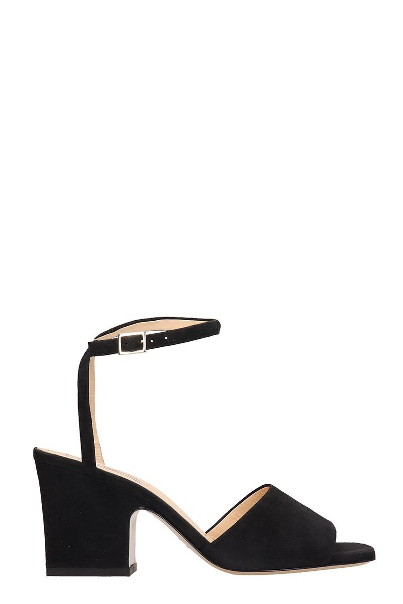 Fabio Rusconi Black Leather Sandals