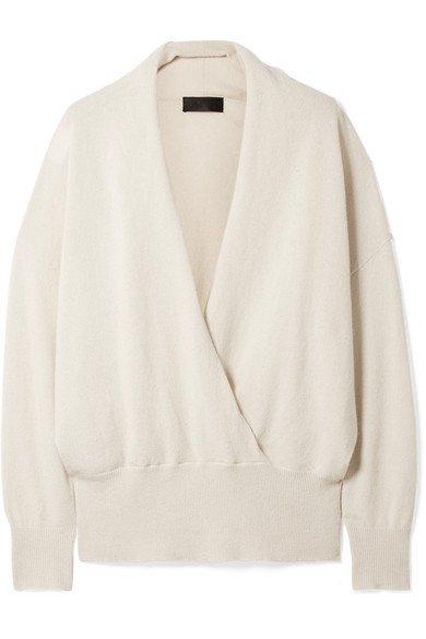 Nili Lotan   Lakota wrap-effect cashmere sweater   NET-A-PORTER.COM
