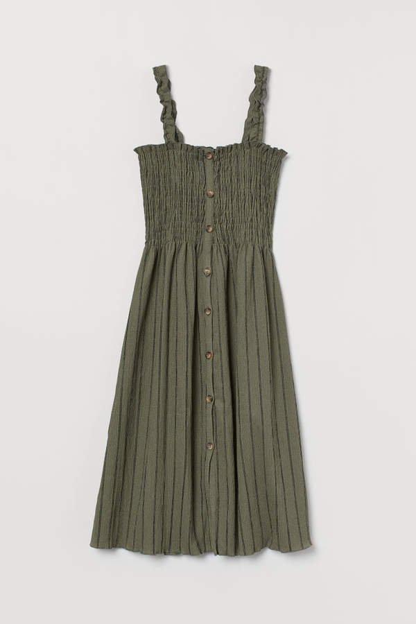 Smocked Dress - Green