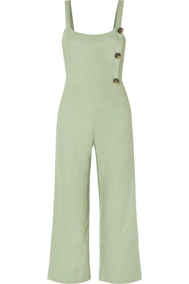 Faithfull The Brand   Sainte Marie shirred linen jumpsuit   NET-A-PORTER.COM