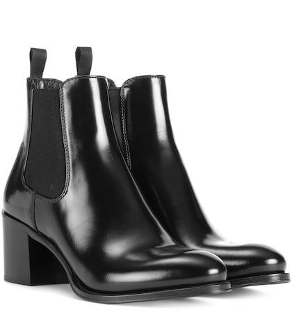 Shirley glossed-leather ankle boots