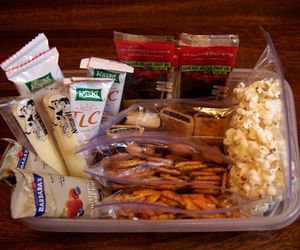 Create a healthy snack station and always keep it stocked in your fridge and/or pantry so you avoid the temptation of grabbing something not so healthy..