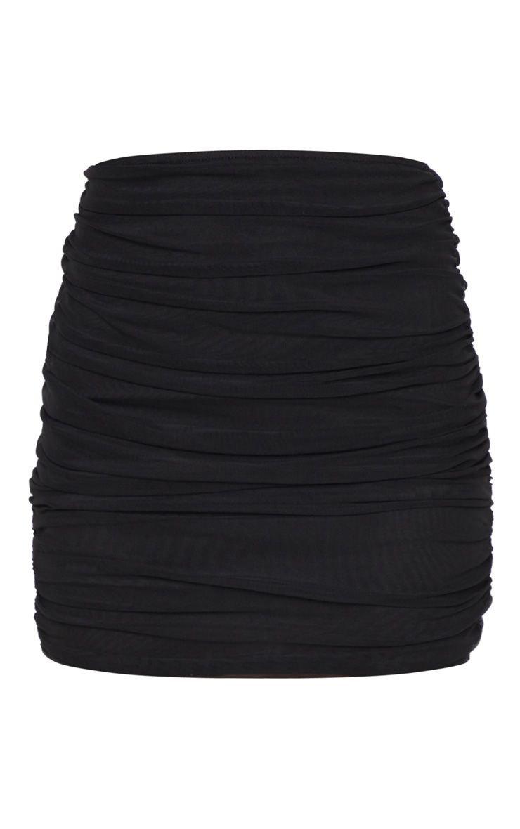 Black Mesh Skirt   Skirts   PrettyLittleThing