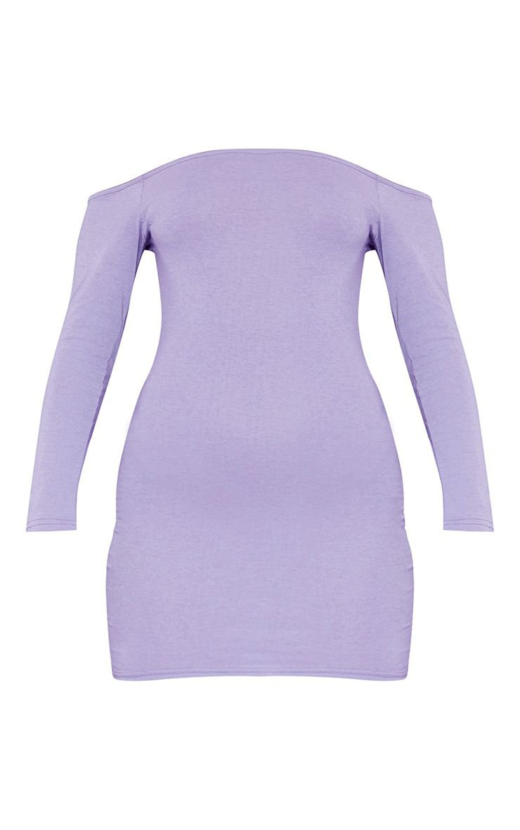 Violet Bardot Bodycon Dress | Dresses | PrettyLittleThing USA