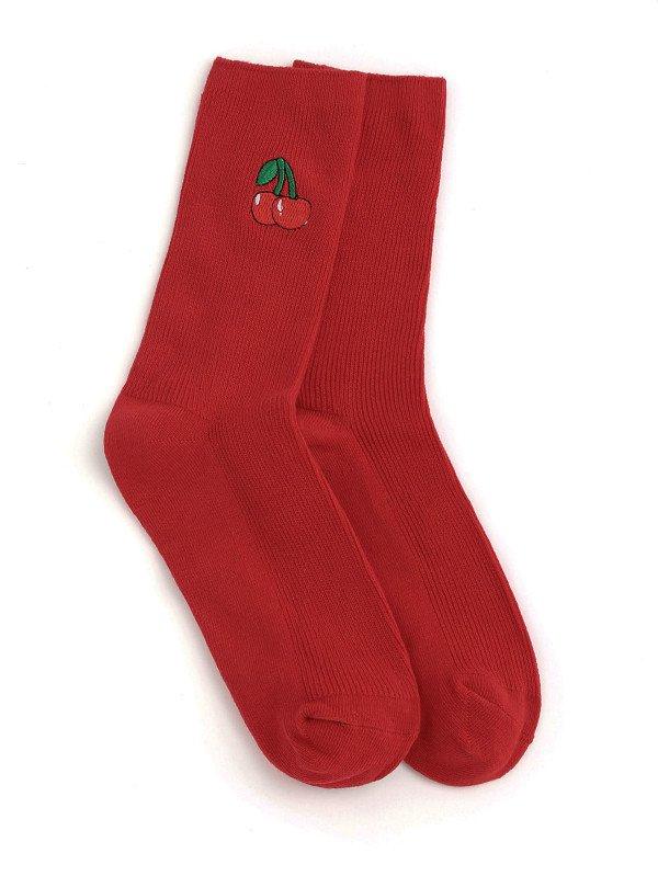 cherry red socks