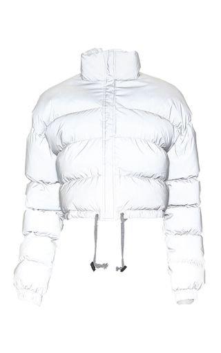 Grey Reflective Puffer Jacket | PrettyLittleThing