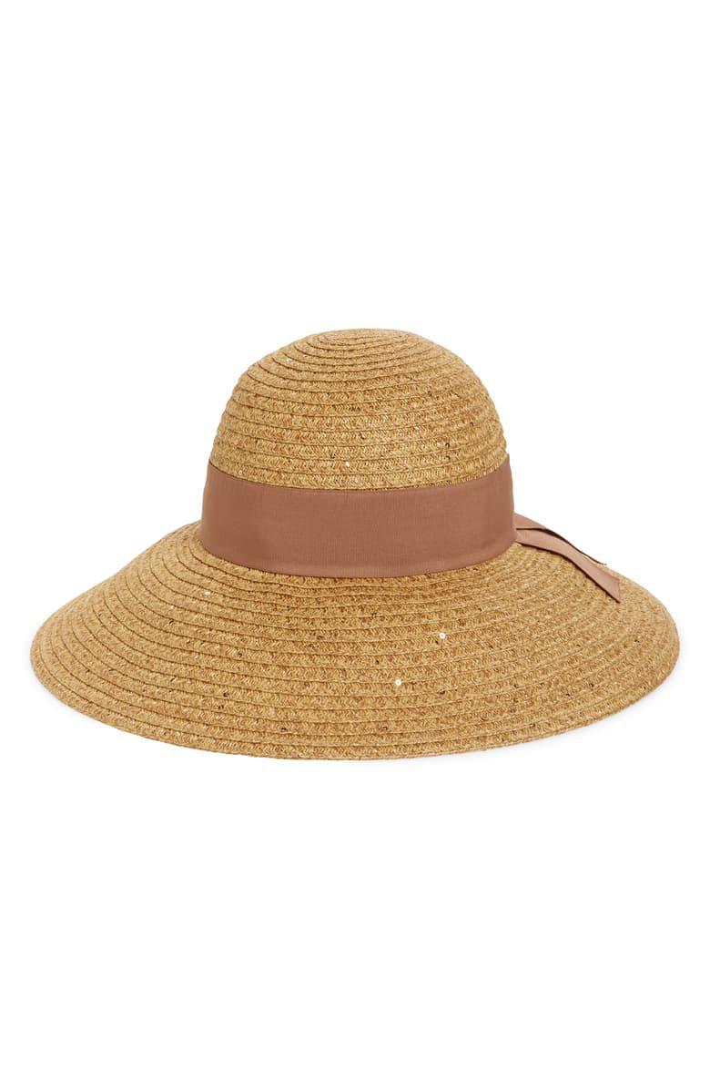 Nordstrom Sequin Floppy Straw Hat | Nordstrom