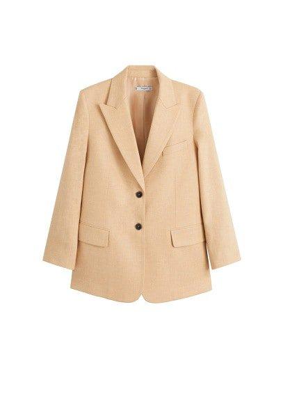 MANGO Wool suit blazer
