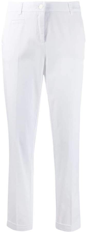 creased tapered trousers