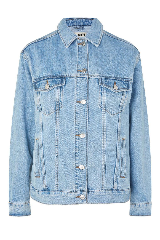Oversized Denim Jacket - Denim - Clothing - Topshop USA