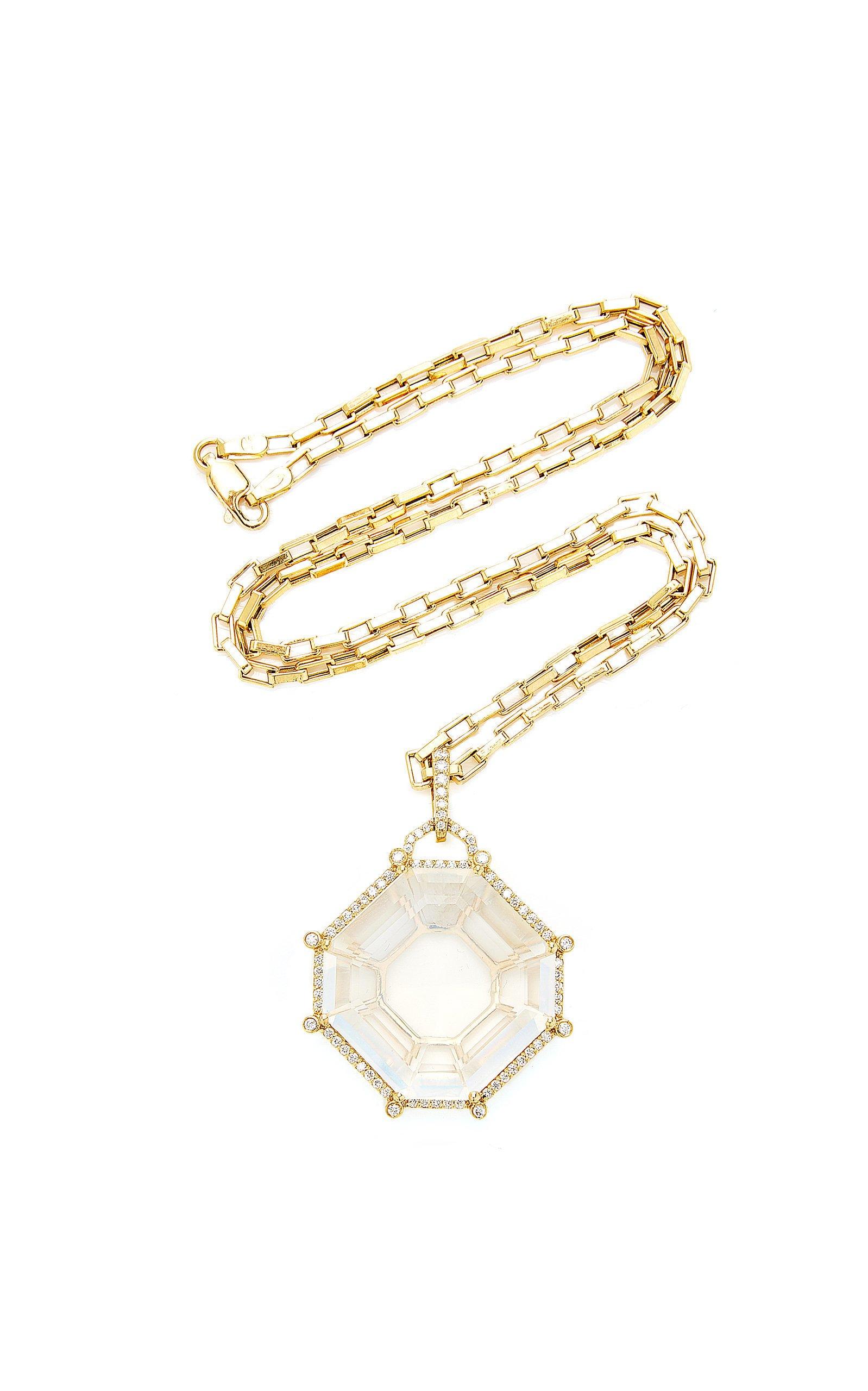 Goshwara Gossip Moon Quartz octagon pendant