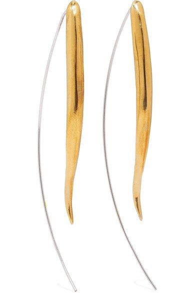 Ariana Boussard-Reifel   Kalahari gold-tone and silver earrings   NET-A-PORTER.COM