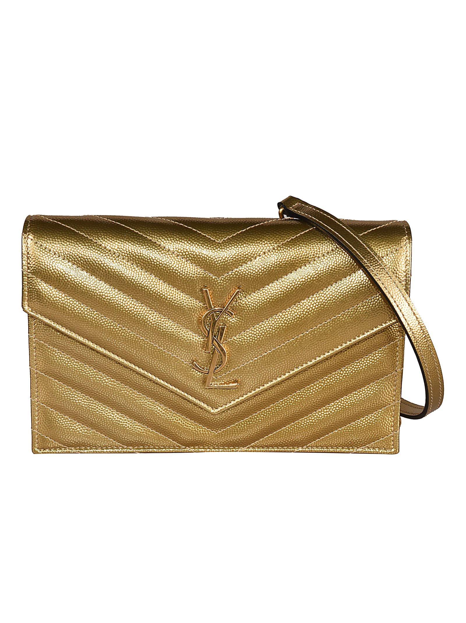Saint Laurent Logo Quilted Shoulder Bag