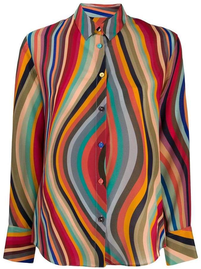 wave pattern shirt