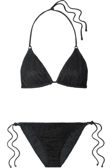 Missoni | Mare crochet-knit triangle bikini | NET-A-PORTER.COM