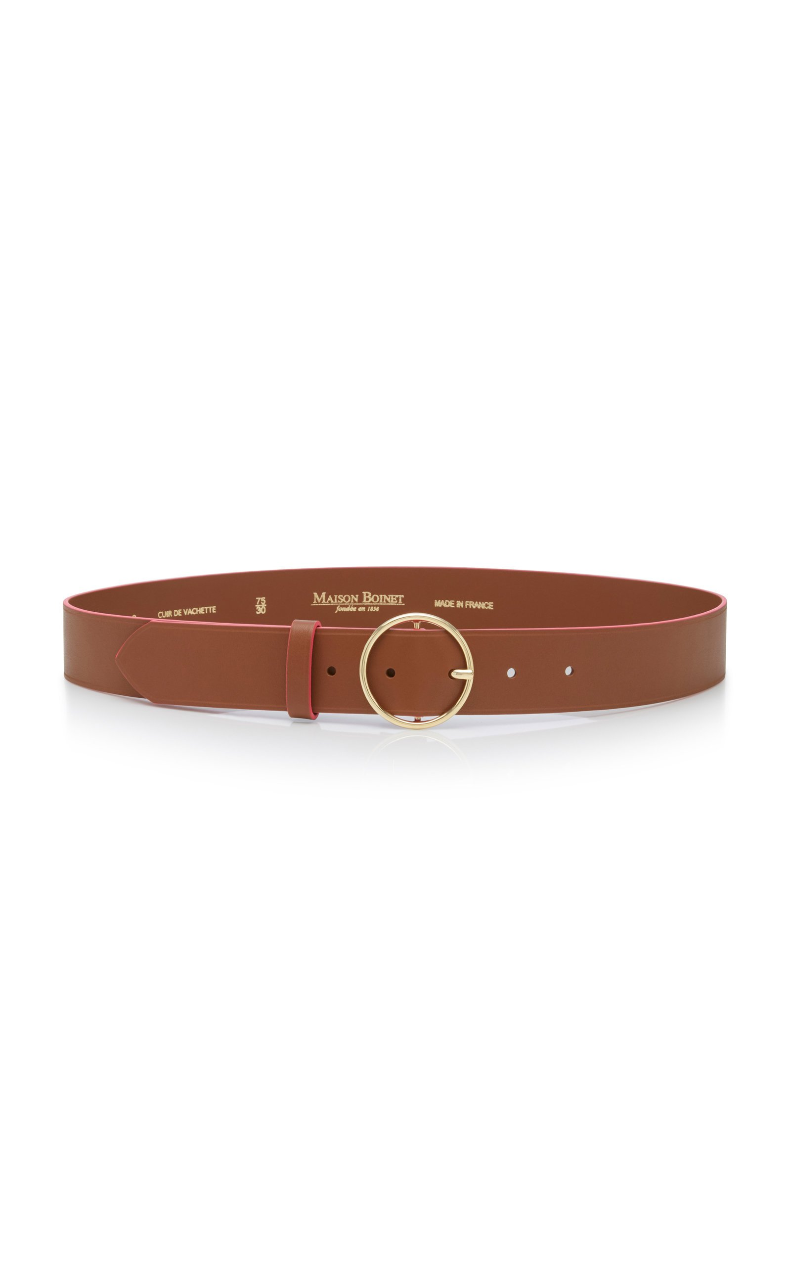 Maison Boinet Buckled Leather Belt
