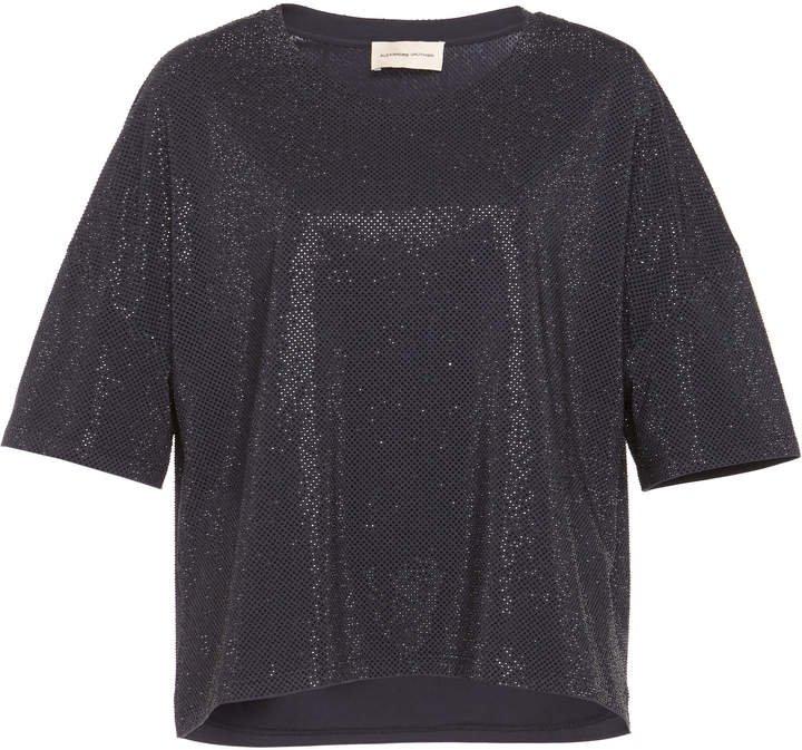 Embellished Cotton-Blend T-Shirt
