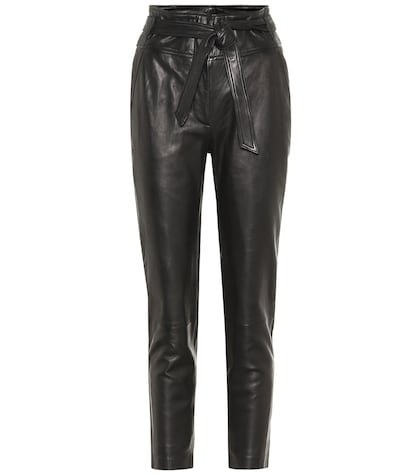 Faxon high-rise leather pants