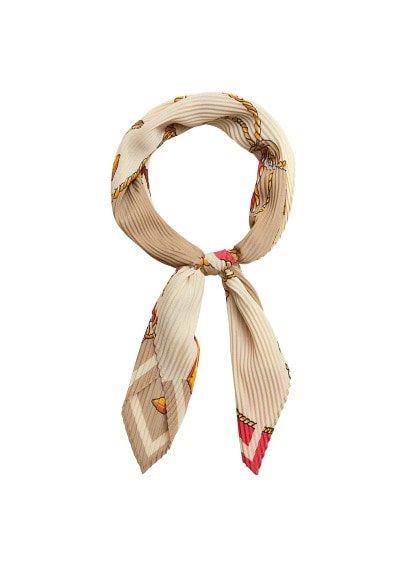MANGO Chain printed scarf