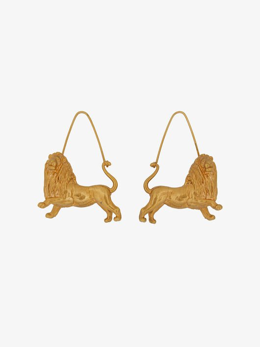 Leo zodiac earrings