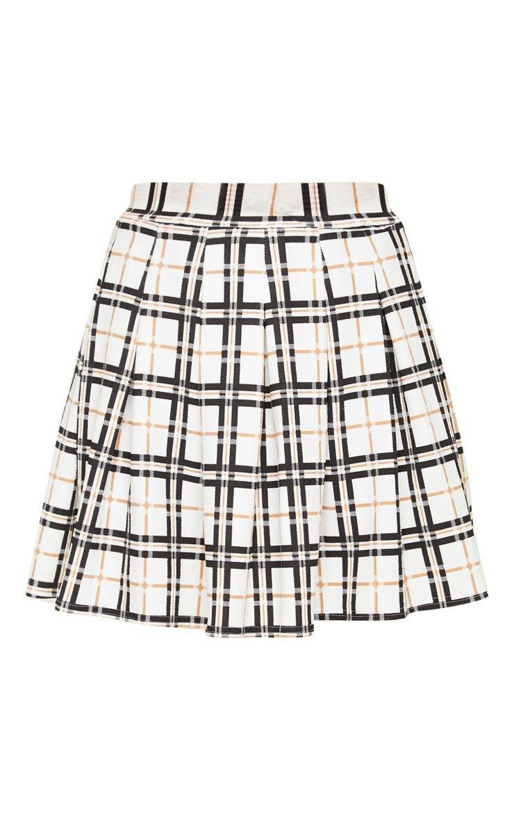 Black Check Tennis Skirt | Skirts | PrettyLittleThing USA