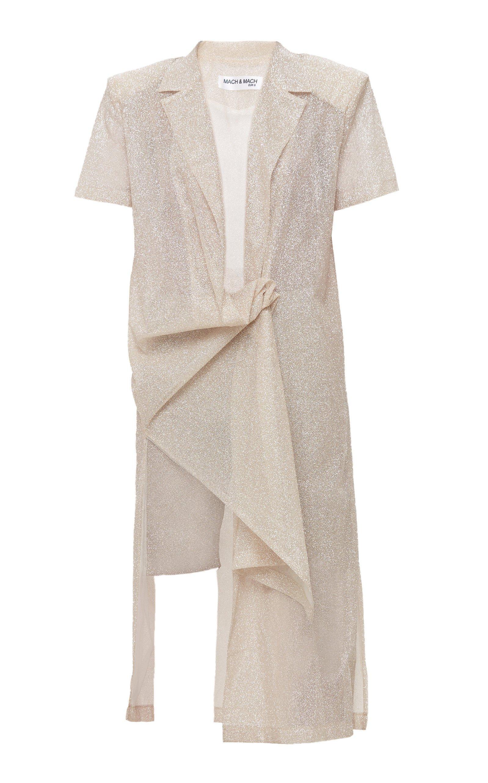 Mach & Mach Beige Sparkling Shirt Dress