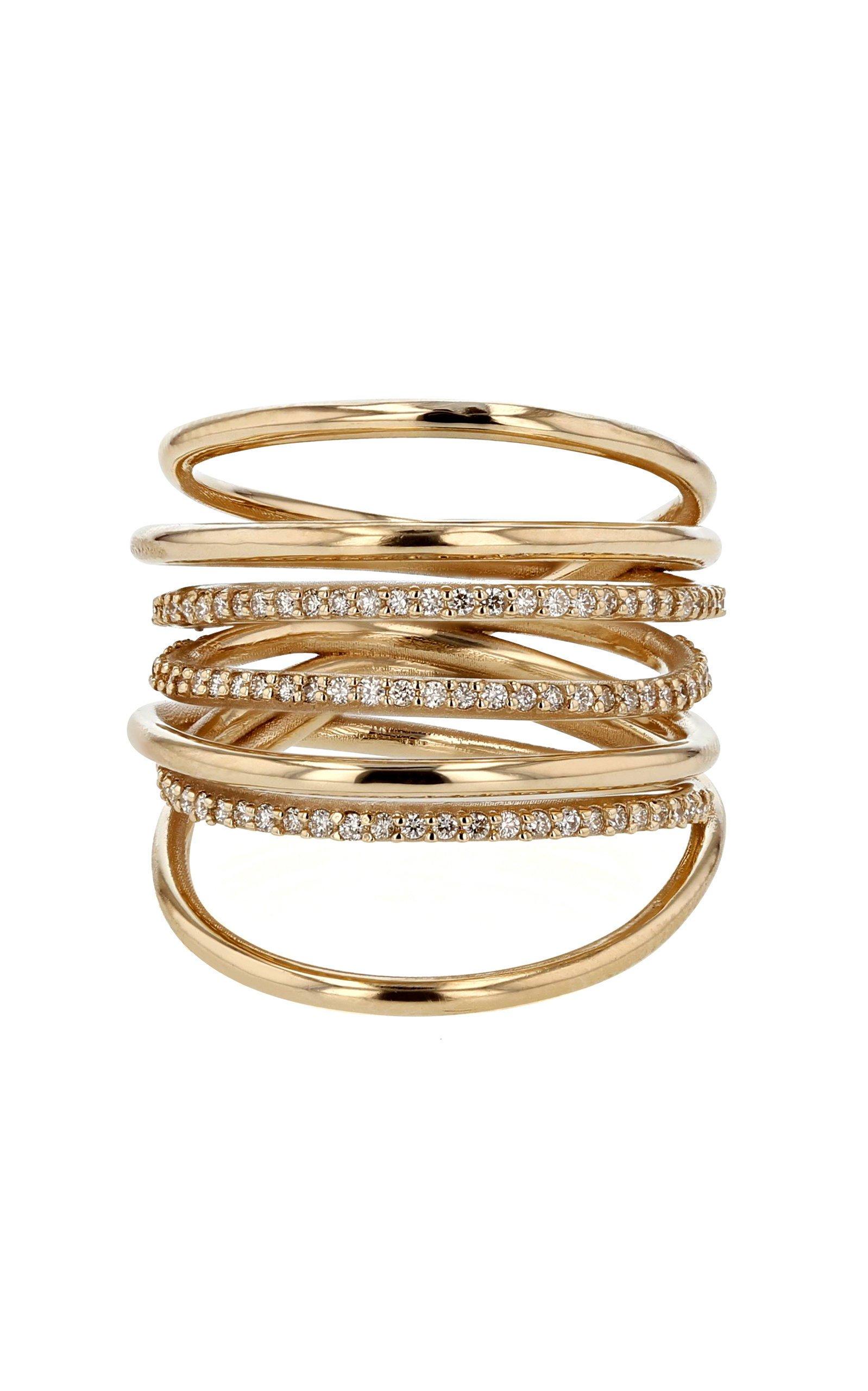Sarah & Sebastian Entangled Ring with Diamonds
