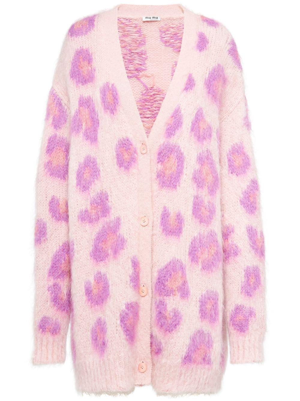 Miu Miu Leopard Oversized Cardigan