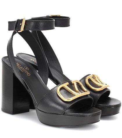 Valentino Garavani Go Logo leather sandals