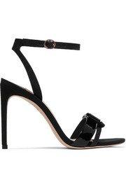 Alexander Wang | Cady sandálias de camurça com acabamento metálico | NET-A-PORTER.COM