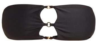 Ace Bandeau Bikini Top - Womens - Black