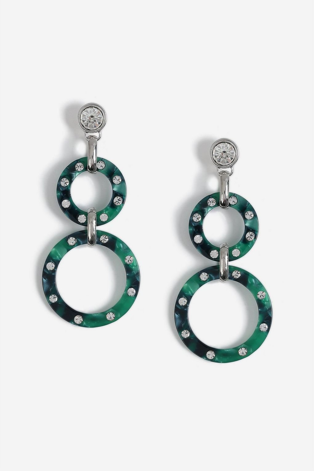 Circle Link Drop Earrings - Jewellery - Bags & Accessories - Topshop