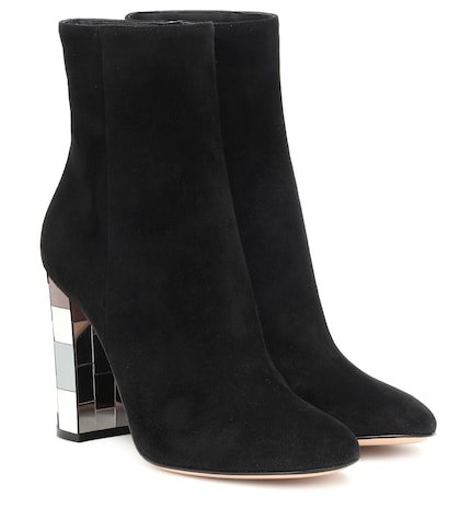 Disco Heel 100 suede ankle boots