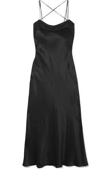 Maison Margiela | Silk-satin midi dress | NET-A-PORTER.COM