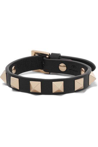 Valentino   Valentino Garavani The Rockstud leather bracelet   NET-A-PORTER.COM