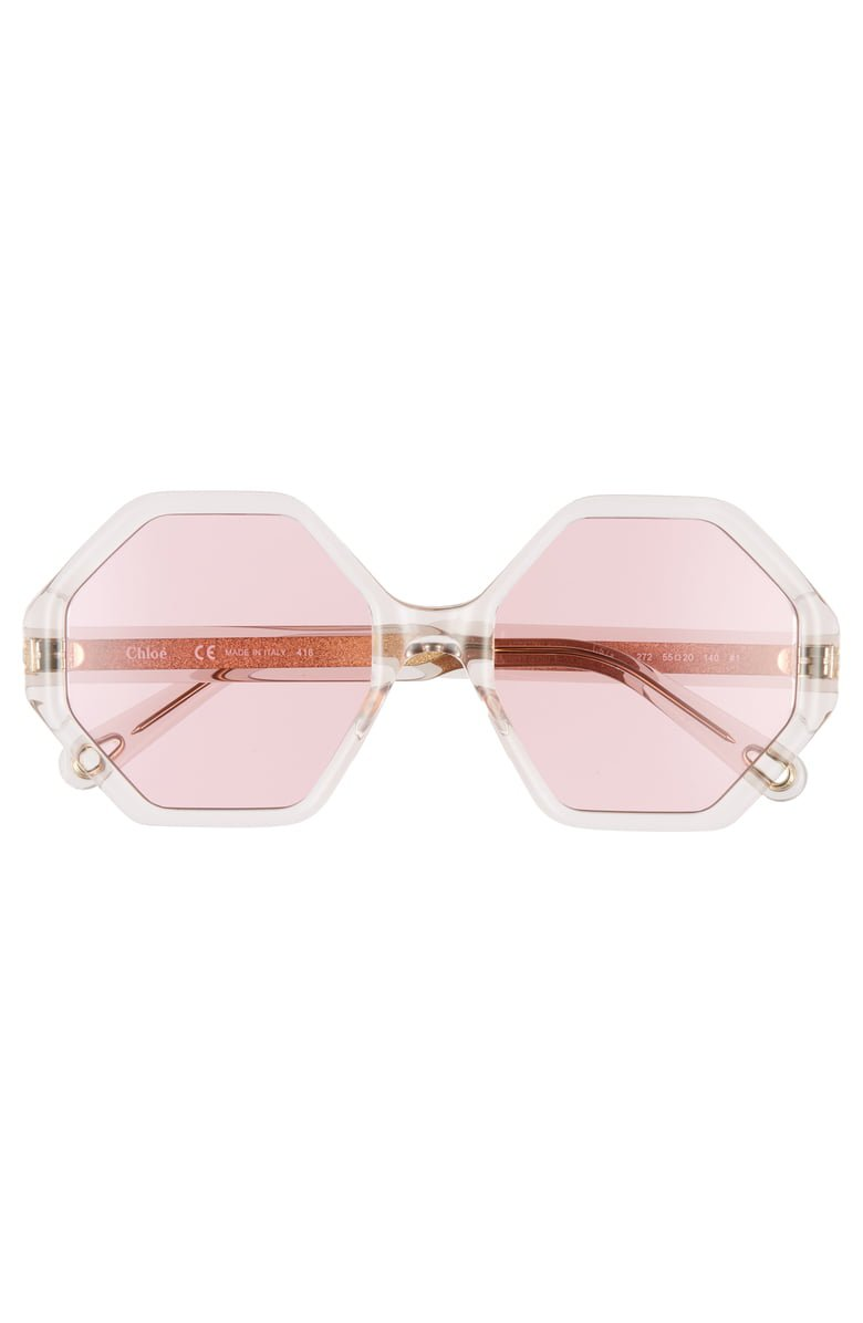 Chloé Willow 55mm Octagonal Sunglasses   Nordstrom