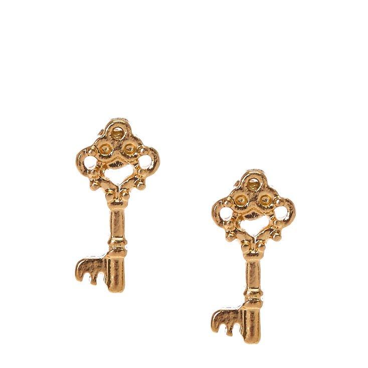 Gold Key Studs | Icing US