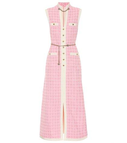 Embellished tweed dress