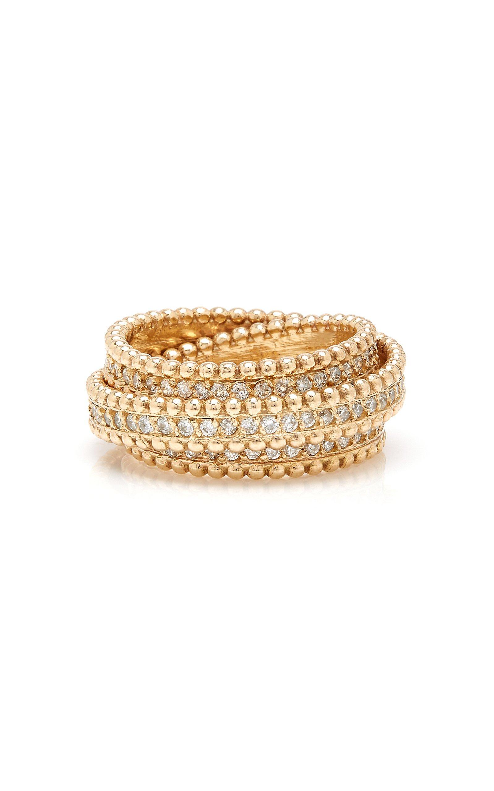 14K Gold Diamond Ring by Sophie Ratner | Moda Operandi