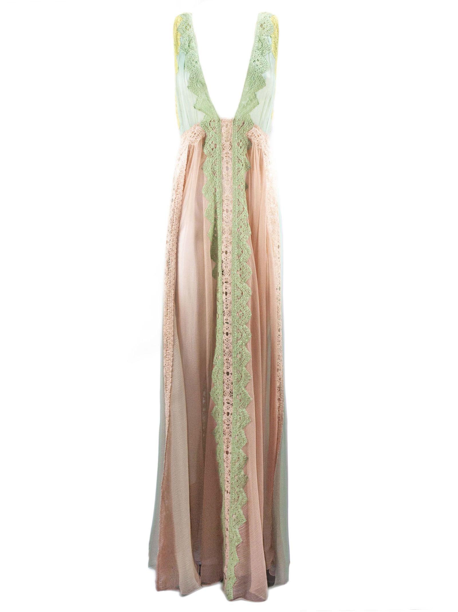 Alberta Ferretti Long Dress Lightweight Chiffon Dress