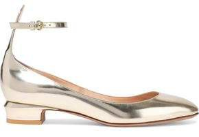 Mirrored Leather Ballet Flats
