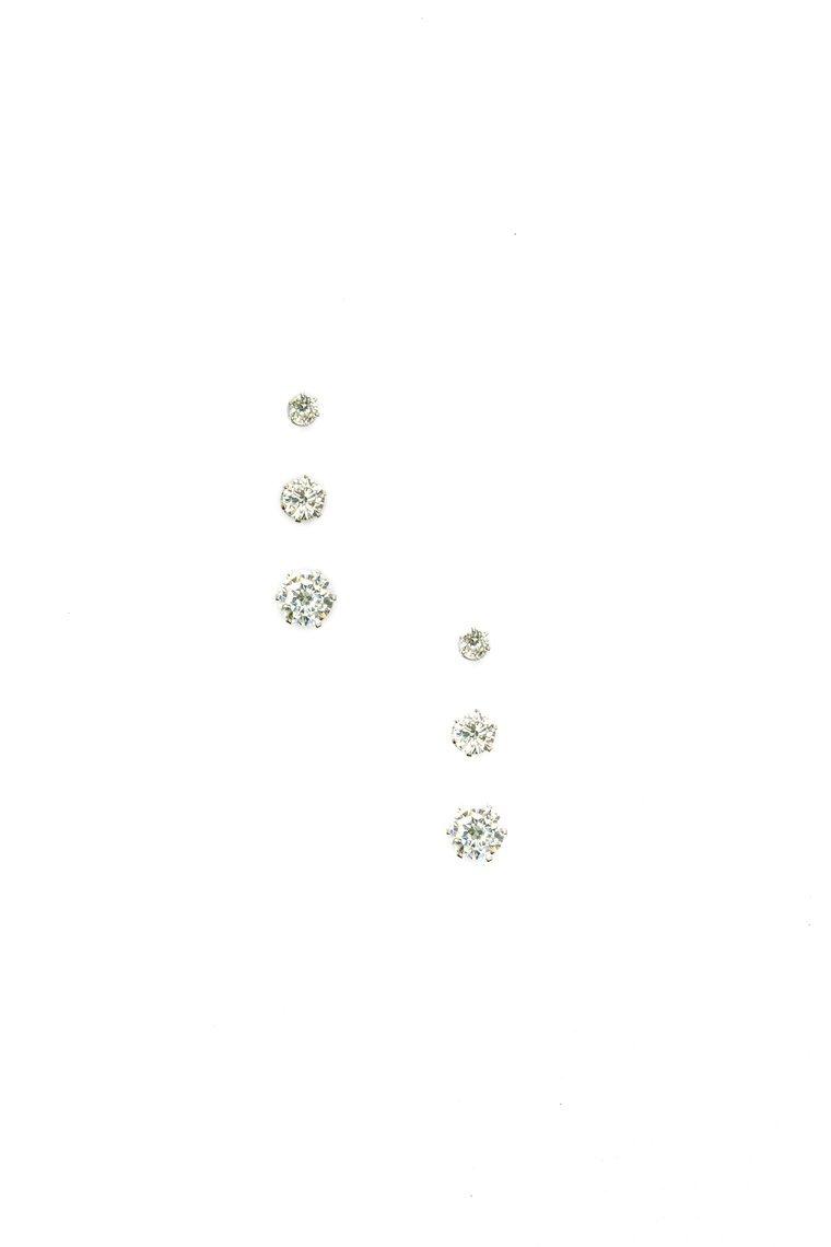 More Gems Please Earrings Set - Silver
