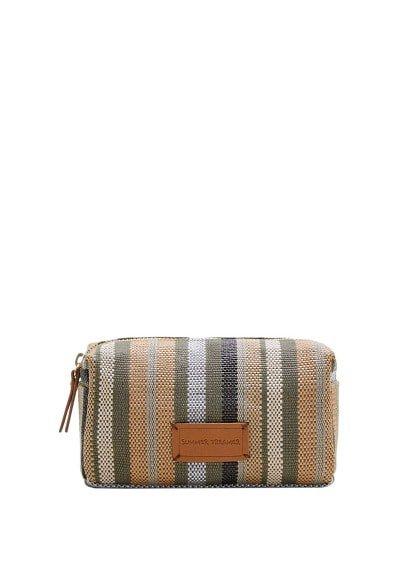 Violeta BY MANGO Striped cosmetic bag