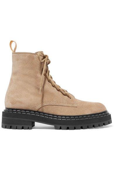 Proenza Schouler   Suede ankle boots   NET-A-PORTER.COM