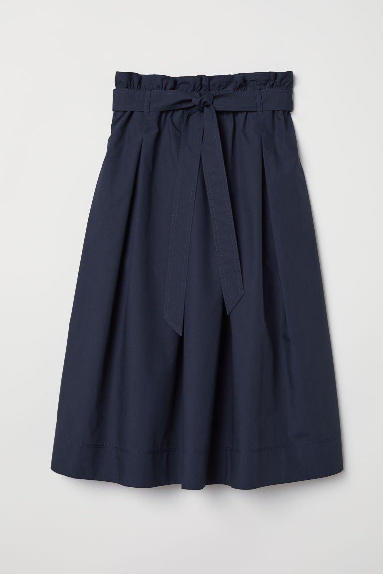Calf-length Skirt - Dark blue - Ladies | H&M US