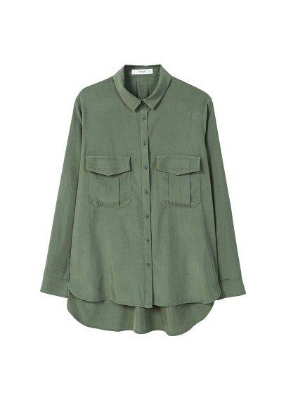 MANGO Flap pocketed shirt