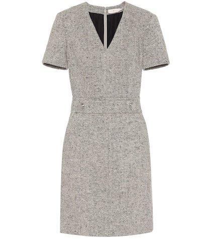 Priscilla linen-wool blend dress