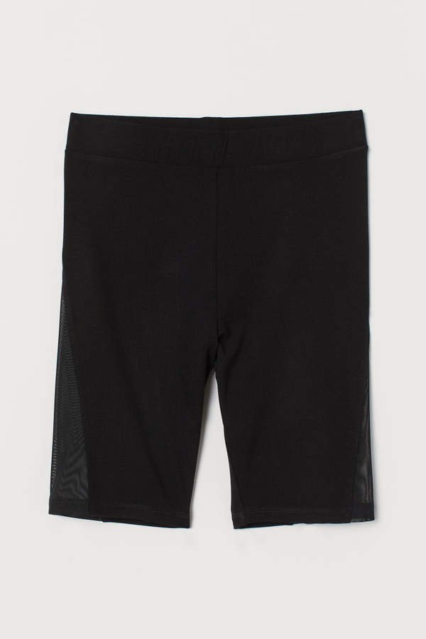 Cycling Shorts with Mesh - Black