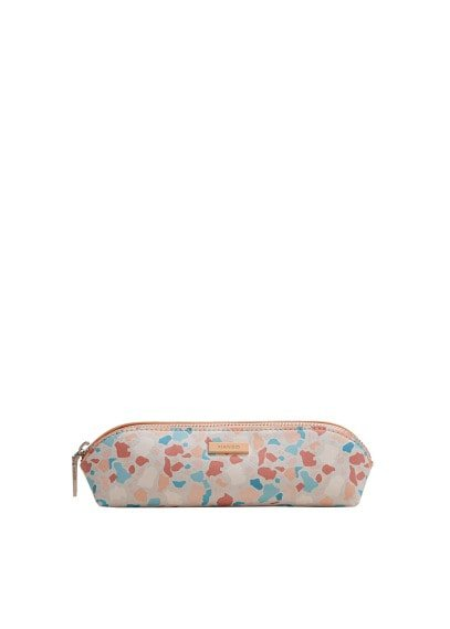 MANGO Geometric print pencil case
