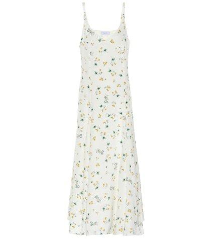 Ava silk crêpe slip dress